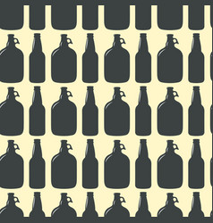 Beer bottle pattern seamless background vector