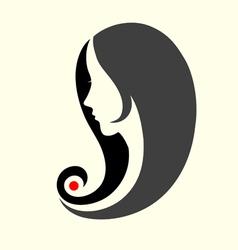 Black hair style vector