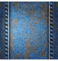 Blue jean texture background with spots vector