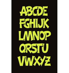 Cartoon comic graffiti font alphabet vector