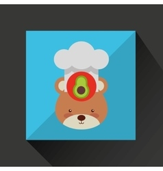 chef animal design vector image