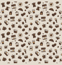 coffee pattern light colors vector image vector image