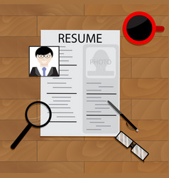 create resume concept vector image