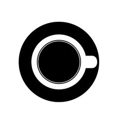 Cup or mug topview icon image vector