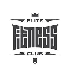 Elite fitness club - emblem or logo with original vector