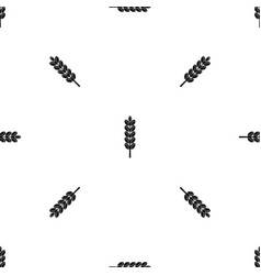 Field spike pattern seamless black vector