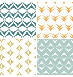 Four abstract arrow shapes seamless patterns set vector image