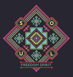 freedom spirit native american style vector image vector image