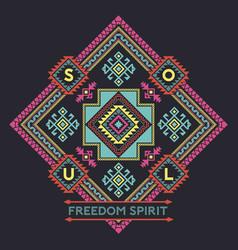 Freedom spirit native american style vector