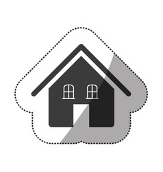 gray beautiful house icon vector image