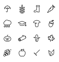 line autumn icon set vector image vector image