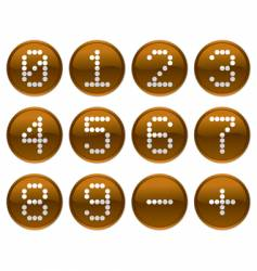 matrix digits icons vector image vector image