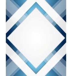 Minimal tech geometric blue background vector