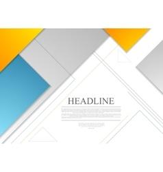 Minimal tech geometric brochure design vector