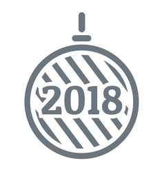 modern christmas ball logo simple gray style vector image