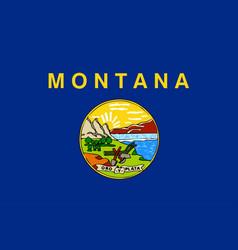 Montana state flag vector