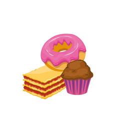 Muffindonutcake vector