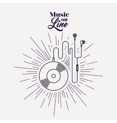 music on line design vector image vector image