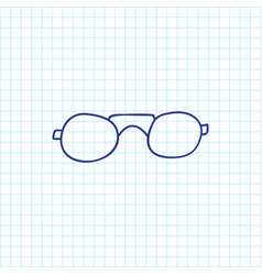 of trip symbol on glasses vector image