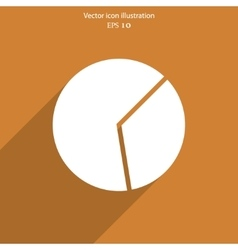 Pie chart web icon vector