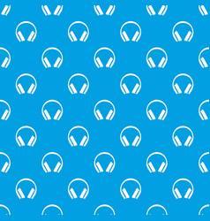 Protective headphones pattern seamless blue vector
