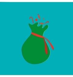 Santas sack with candy christmas collection vector