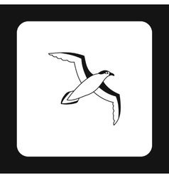 Sea gull icon in simple style vector image