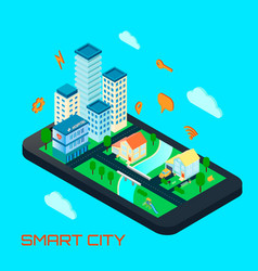 smart city isometric design concept vector image