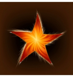 Star and rays vector