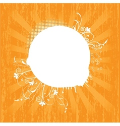 Sun over white - vector image vector image