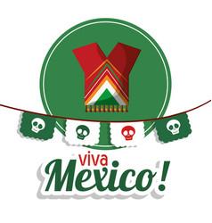 Viva mexico clothes festival poster vector