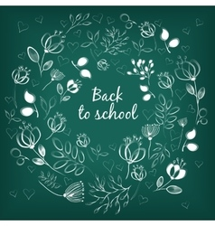 White floral ring back to school vector