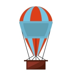 Balloon air hot flying vector
