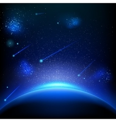 Space background with blue light eps 10 vector