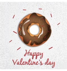 Greeting card valentines day series with sweets vector