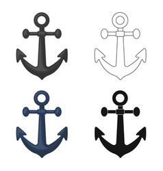 Anchor icon in cartoon style isolated on white vector