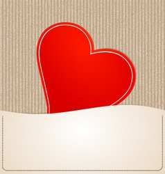 Paper heart background vector