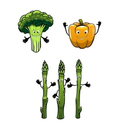 Broccoli spinach and pepper vegetables vector