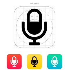 Microphone icon vector