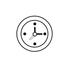 line wall clock to know hours time vector image