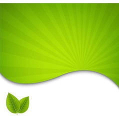 Eco green leaves poster vector