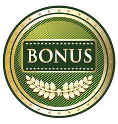 Bonus green label vector