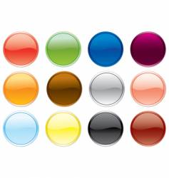 free colored buttons vector image