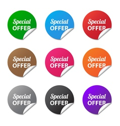 Special offer stickers vector image