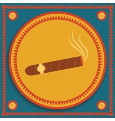 Cigar on stylized background vector