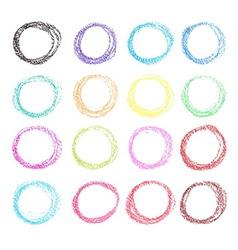 Crayon style circles vector