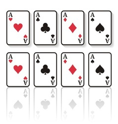 Play cards vector