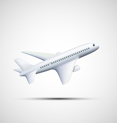 White airplane stock vector