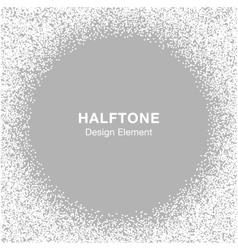 Halftone dots frame on gray silver background vector