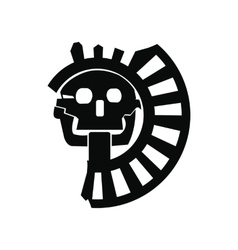 Skull the god of death of aztecs icon vector